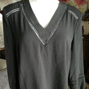New Black Castro long sleeve blouse